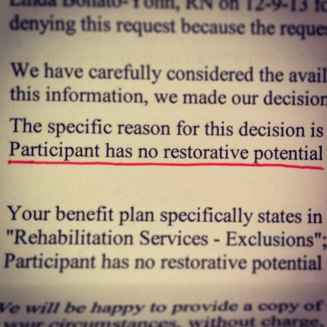 kaiser no restorative potential letter