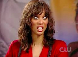tyra banks scared face