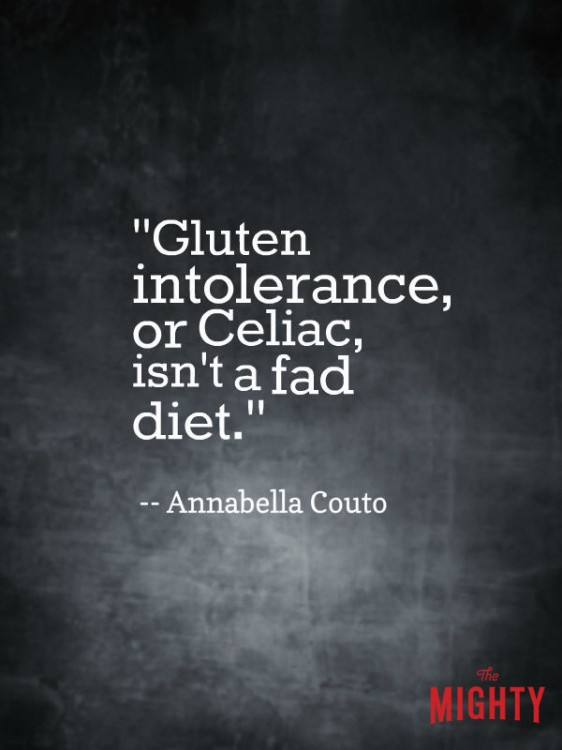 celiac disease meme: Gluten intolerance, or celiac, isn't a fad diet.