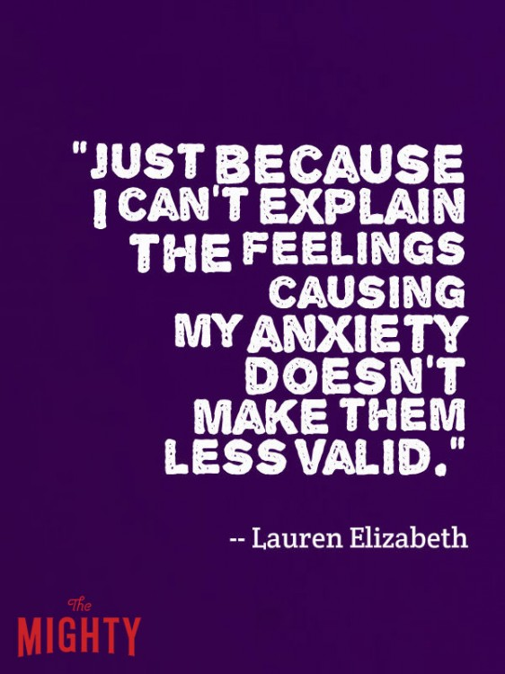 meme that says just because i can't explain the feeling causing my anxiety doesn't make them less valid.