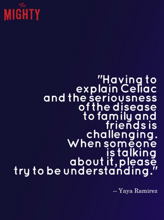 celiac disease meme: Having to explain celiac and the seriousness of the disease to family and friends is challenging.