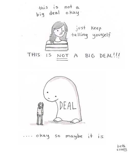Beth Evans comic about anxiety