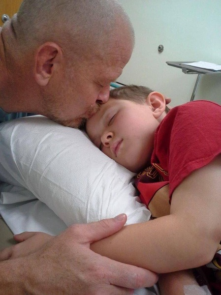 dad with son in hospital