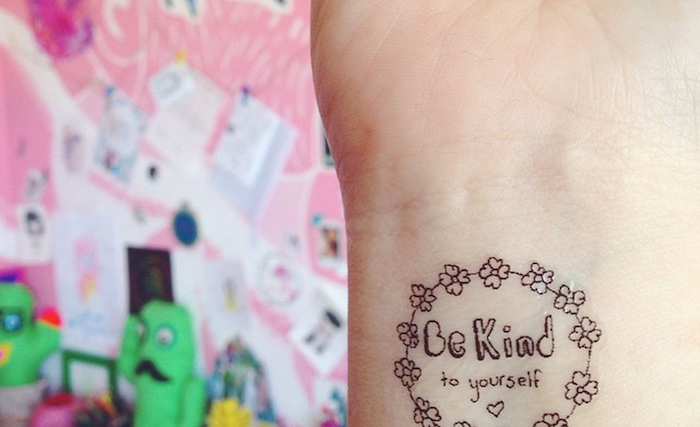 tattoo that says be kind