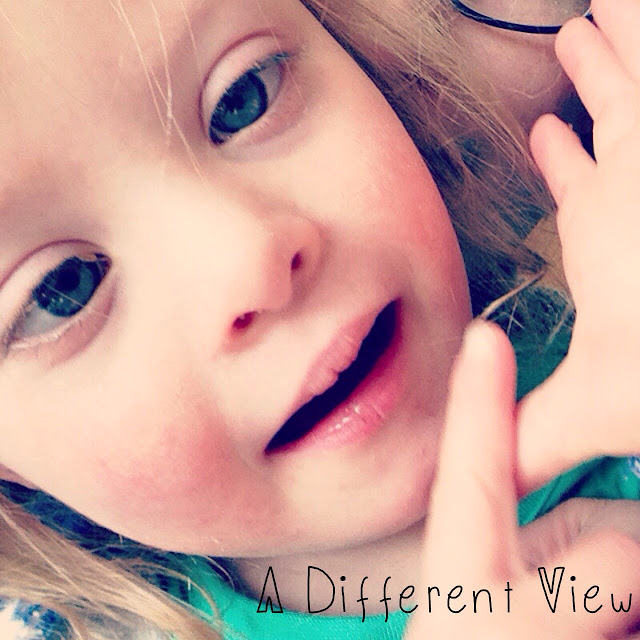 author's daughter with down syndrome