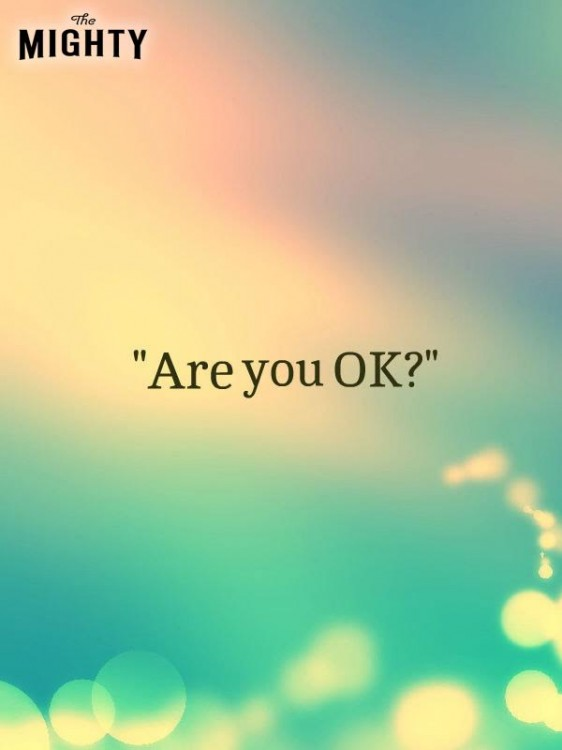 Meme that says [are you OK?]