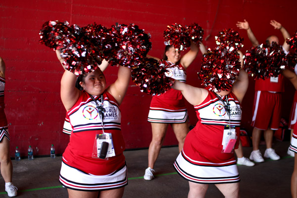 cheerleaders at 2015 special olympics
