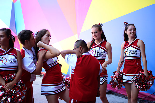 cheerleader at 2015 special olympics