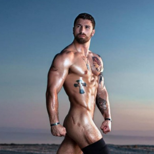 wounded veteran posing nude