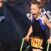 Bailey Matthews nearing the finish line