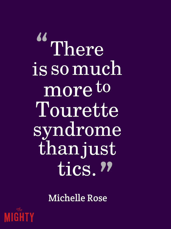 Tourette meme: there is so much more to Tourette syndrome than just tics.