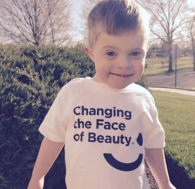 little boy in changing the face of beauty shirt