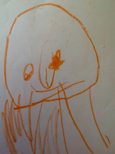 child's drawing of jellyfish