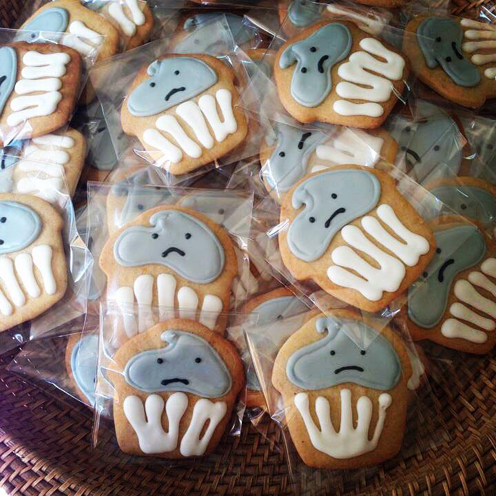 cookies with frowny faces