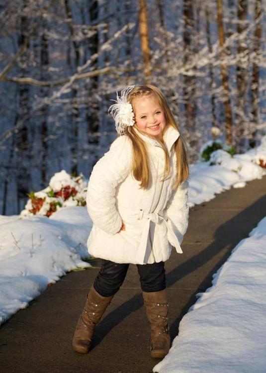 kayla modeling white jacket