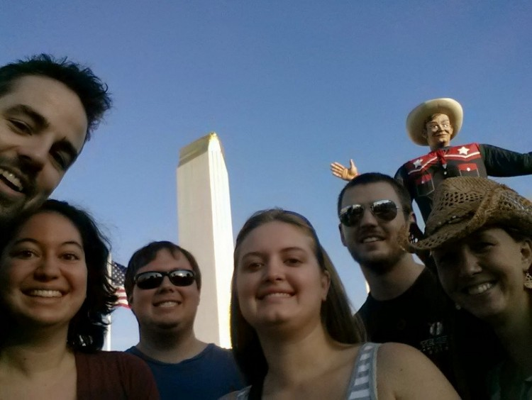 Amber Nicole celebrated her birthday with friends and Big Tex in 2014.
