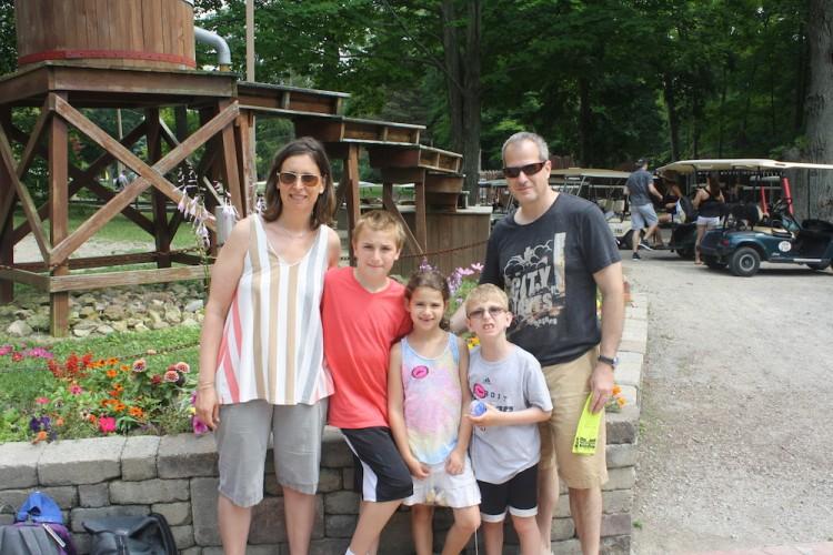Jennifer Lovy and her family