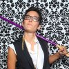 Liz Jackson poses with purple cane