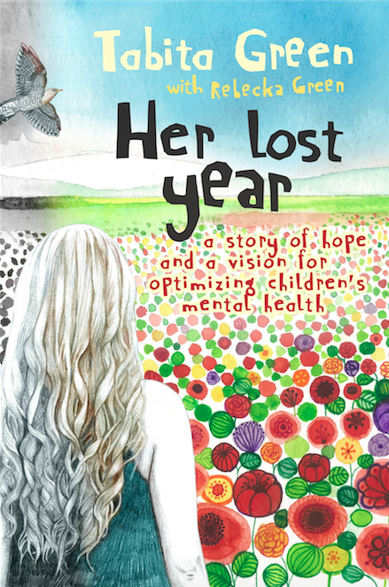 front cover of the book 'her lost year' by tabita green and rebecka green