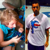 Adam Sandler wearing Santino Stagliano's t-shirt