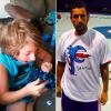 Adam Sandler wearing Santino Stagliano's t-shirt