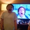 children in front of TV
