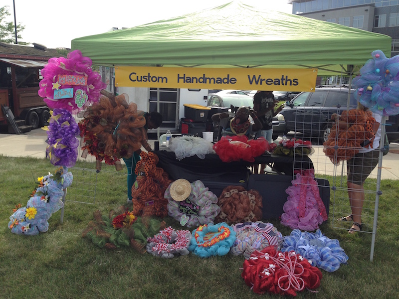 Wreath booth