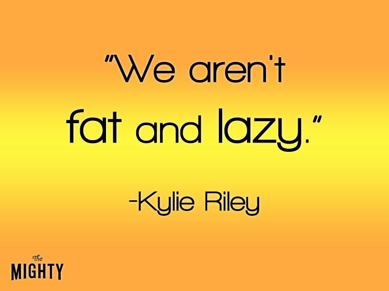 We aren't fat and lazy