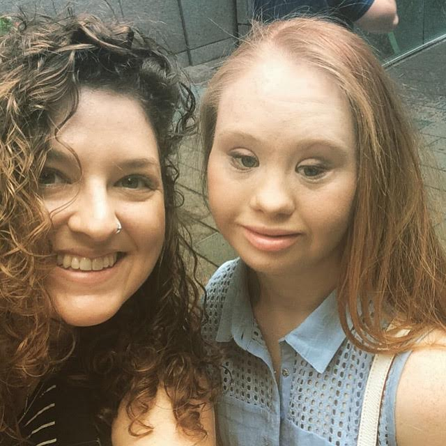 Madeline Stuart and Melissa McGlensey taking a selfie