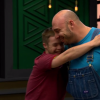 two men hugging