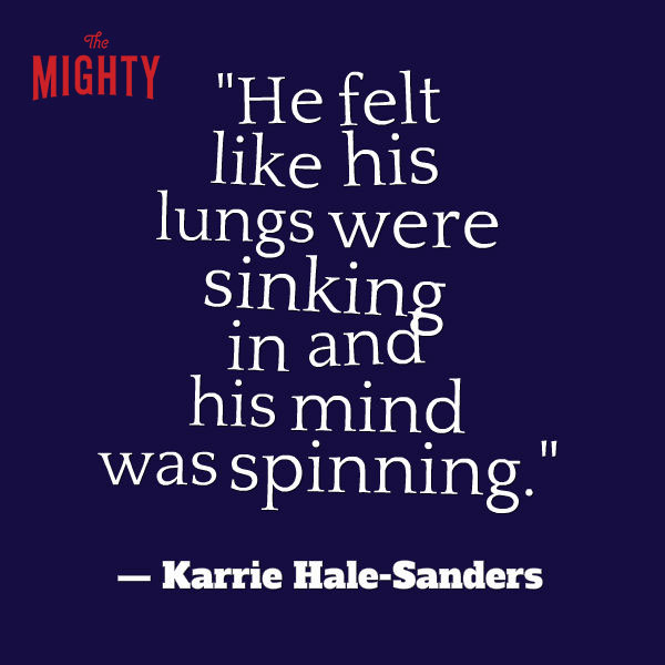 Mental Health meme: He felt like his lungs were sinking in and his mind was spinning.