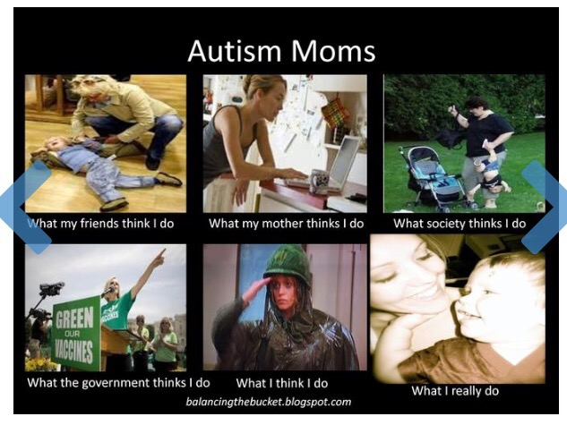 autism moms, what my friends think i do, what my mother thinks i do, what society thinks i do, what the government thinks i do, what i think i do, what i really do