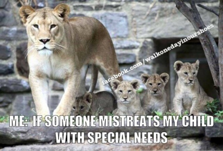 me: if someone mistreats my child with special needs
