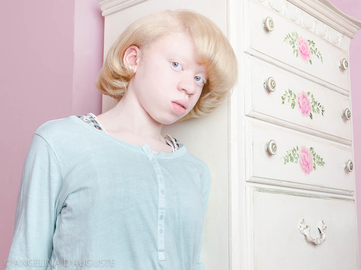Image courtesy of Angelina d'Auguste girl leaning against dresser