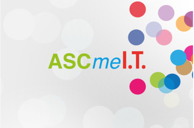 An app's home page, called ASCmeI.T.
