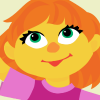 Julia, an autistic character on Sesame Street