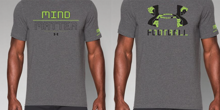 Under Armour and Project 375 graphic t-shirts