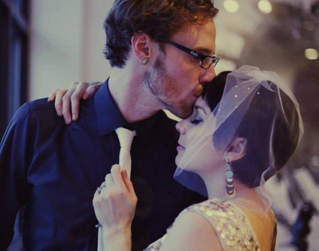 wedding photo of couple dancing