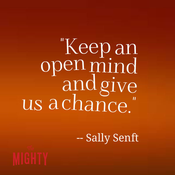 Sally Senft says 'keep an open mind and give us a chance'