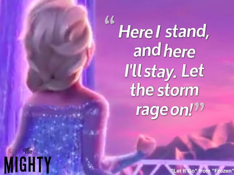 frozen quote: Here I stand, and here I'll stay. Let the storm rage on!