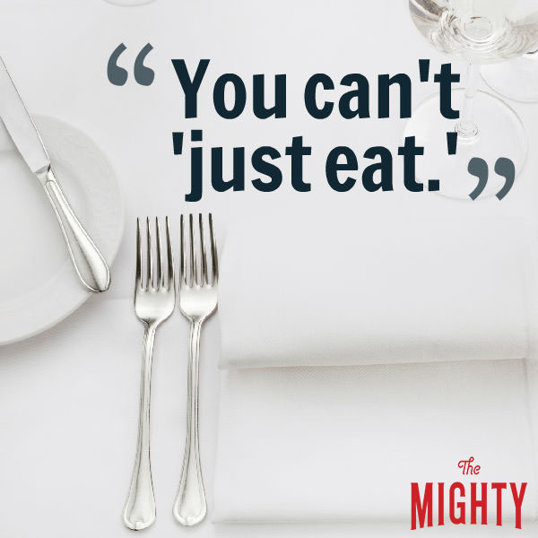 eating disorder quotes: you can't just eat