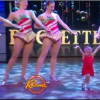 little girl dancing with rockettes
