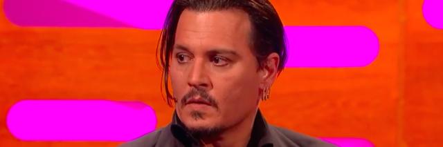 Johnny Depp gets emotional during interview