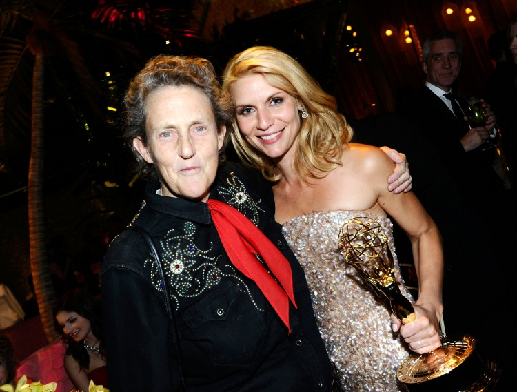 LOS ANGELES, CA - AUGUST 29: Temple Grandin and Claire Danes attend HBO's Annual Emmy Awards Post Award Reception at The Plaza at the Pacific Design Center on August 29, 2010 in Los Angeles, California. (Photo by Michael Buckner/Getty Images)
