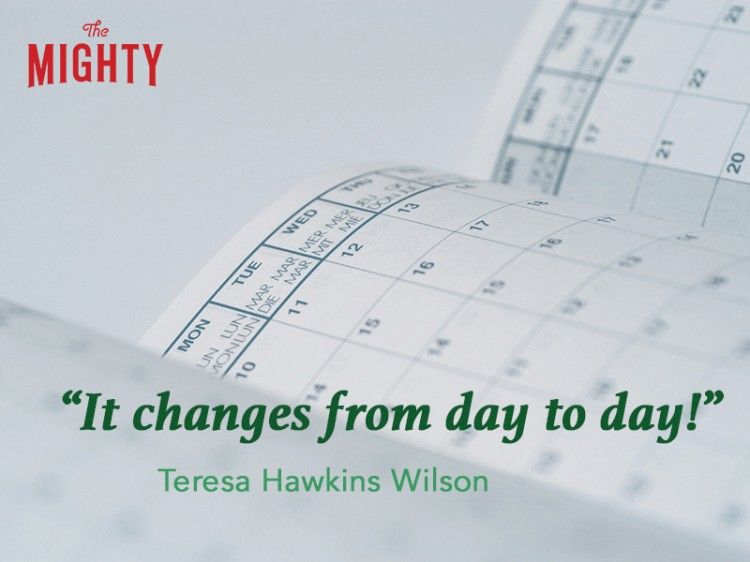 fibromyalgia meme: it changes from day to day