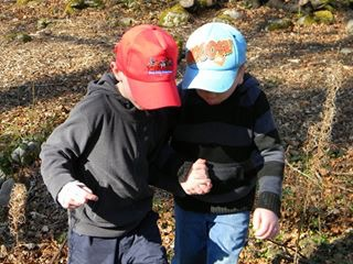 two brothers outdoors