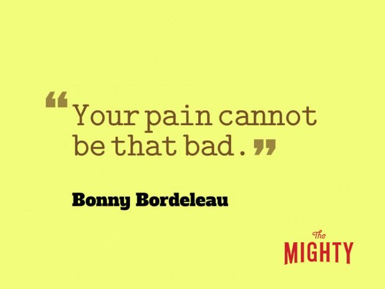 """Bonny Bordeleau dice 'su dolor no puede ser tan malo. """""""
