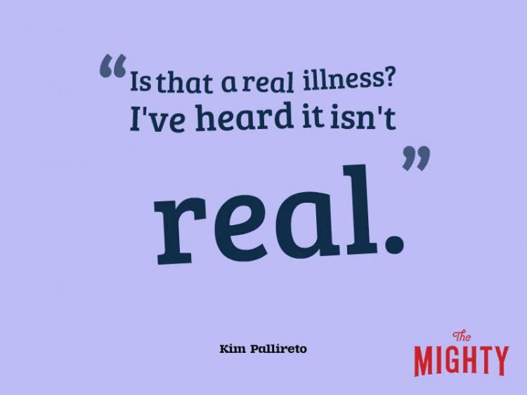 """Kim Pallireto dice 'es que una enfermedad real? He oído que no es real """"."""