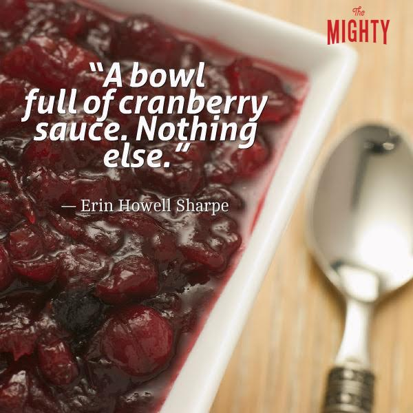 Meme of cranberry sauce: A bowl full of cranberry sauce. Nothing else.""