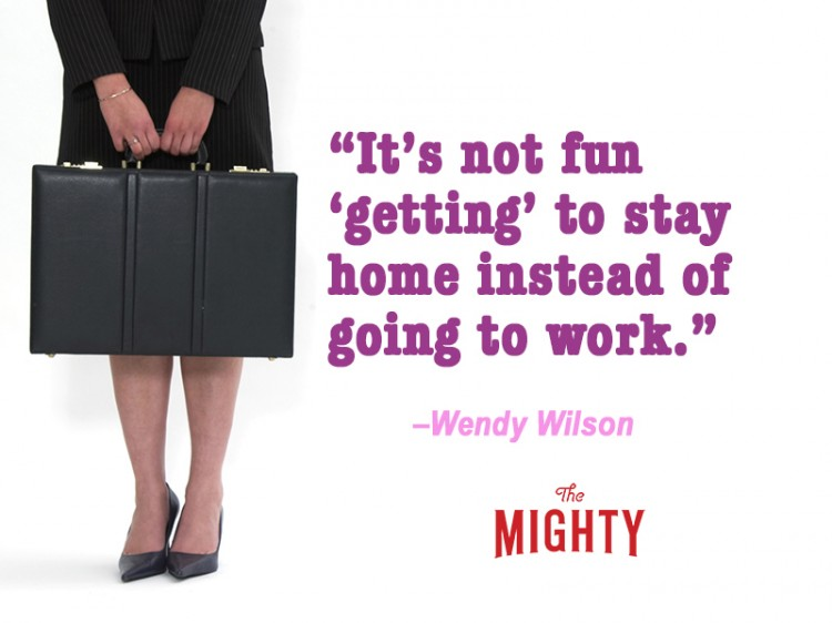 fibromyalgia meme: it's not fun getting to stay home instead of going to work